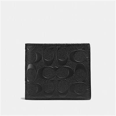 Fashion 4 Coach 3-IN-1 WALLET IN SIGNATURE CROSSGRAIN LEATHER