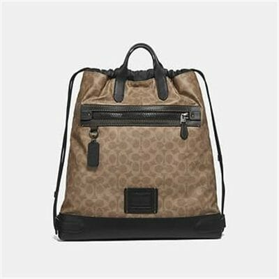 Fashion 4 Coach ACADEMY DRAWSTRING BACKPACK IN SIGNATURE CANVAS