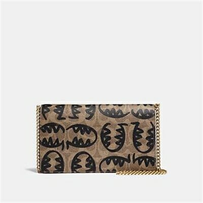Fashion 4 Coach CALLIE FOLDOVER CHAIN CLUTCH IN SIGNATURE CANVAS WITH REXY BY GUANG YU