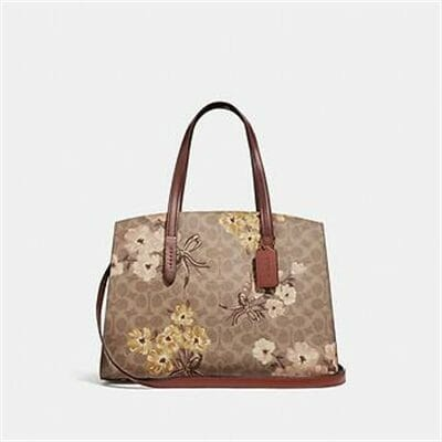 Fashion 4 Coach CHARLIE CARRYALL IN SIGNATURE CANVAS WITH PRAIRIE FLORAL PRINT