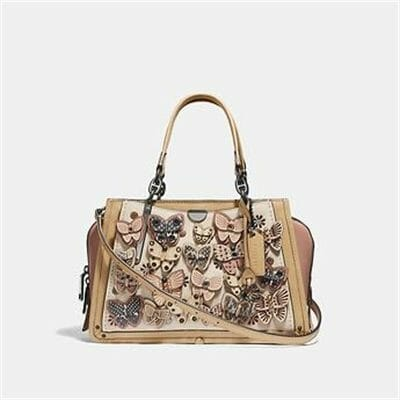 Fashion 4 Coach DREAMER WITH BUTTERFLY APPLIQUE AND SNAKESKIN DETAIL