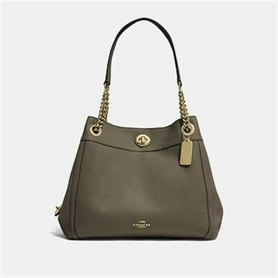 Fashion 4 Coach EDIE SHOULDER BAG IN POLISHED PEBBLE LEATHER