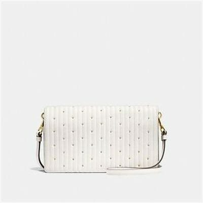 Fashion 4 Coach FOLDOVER CROSSBODY CLUTCH WITH QUILTING AND RIVETS