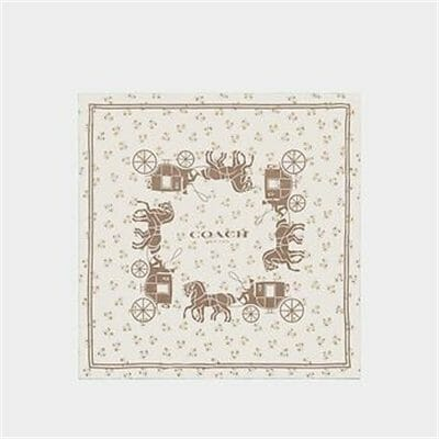 Fashion 4 Coach HORSE AND CARRIAGE SILK SQUARE SCARF