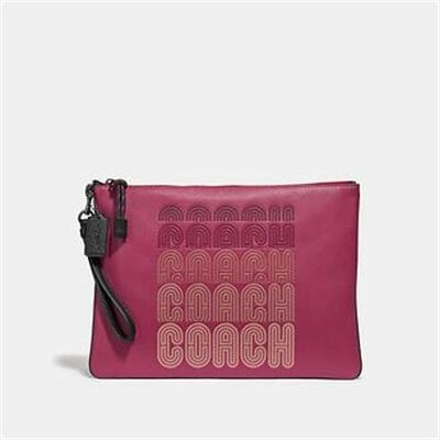 Fashion 4 Coach LARGE WRISTLET 30 WITH COACH PRINT