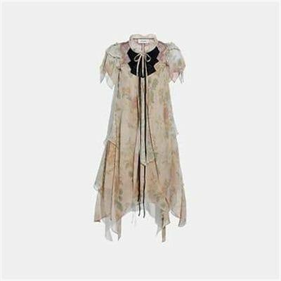 Fashion 4 Coach MINI TIERED DRESS WITH RUFFLE SLEEVE