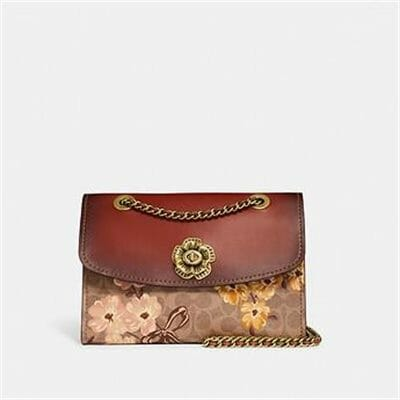 Fashion 4 Coach PARKER IN SIGNATURE CANVAS WITH PRAIRIE FLORAL PRINT