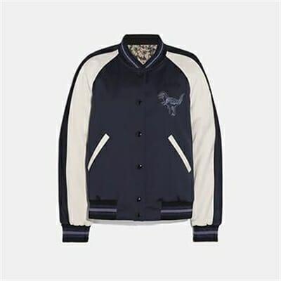 Fashion 4 Coach REXY BY ZHU JINGYI REVERSIBLE VARSITY JACKET