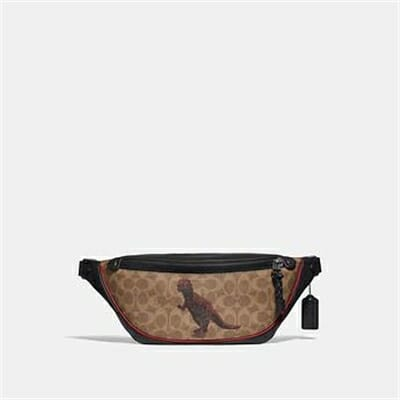 Fashion 4 Coach RIVINGTON BELT BAG IN SIGNATURE CANVAS WITH REXY BY SUI JIANGUO