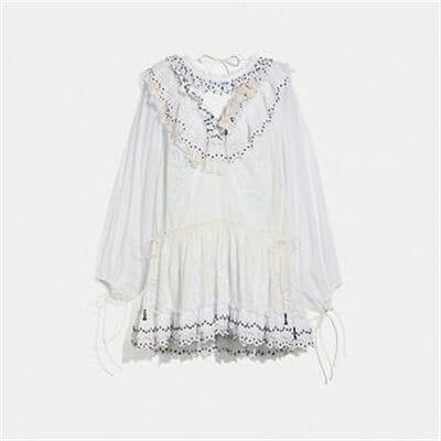 Fashion 4 Coach ROMANTIC MINI DRESS WITH STUD EMBELLISHMENTS