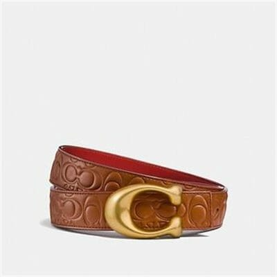 Fashion 4 Coach SCULPTED SIGNATURE REVERSIBLE BELT IN SIGNATURE LEATHER