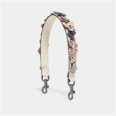 Fashion 4 Coach SHORT STRAP WITH BUTTERFLY APPLIQUE AND SNAKESKIN DETAIL