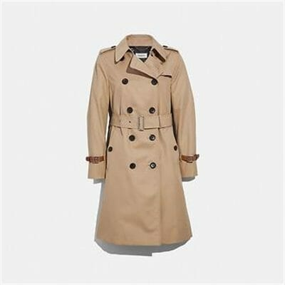 Fashion 4 Coach TRENCH WITH LEATHER BRACELET