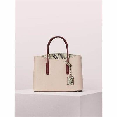 Fashion 4 - margaux embossed snake large satchel