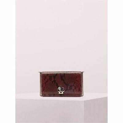 Fashion 4 - nicola snake embossed twistlock chain wallet