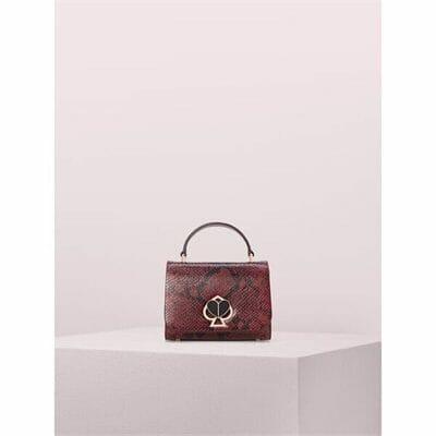 Fashion 4 - nicola snake embossed twistlock small top handle bag