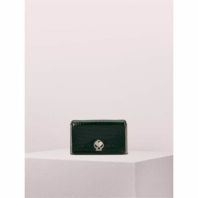 Fashion 4 - romy croc-embossed chain wallet