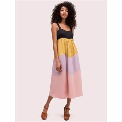 Fashion 4 - scallop blocked midi dress