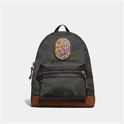 Fashion 4 Coach ACADEMY BACKPACK WITH WILD BEAST PRINT AND KAFFE FASSETT COACH PATCH