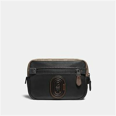 Fashion 4 Coach ACADEMY L-PACK WITH SIGNATURE CANVAS BLOCKING AND COACH PATCH