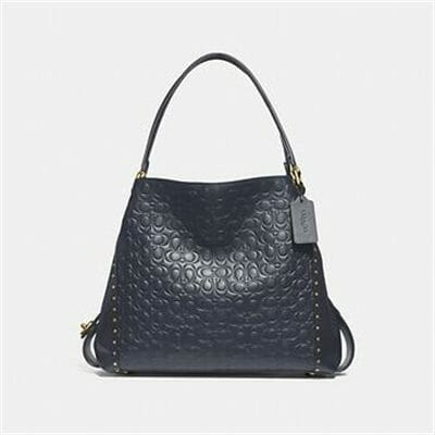 Fashion 4 Coach EDIE SHOULDER BAG 31 IN SIGNATURE LEATHER WITH BORDER RIVETS