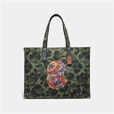 Fashion 4 Coach TOTE 42 WITH WILD BEAST PRINT AND KAFFE FASSETT COACH PATCH