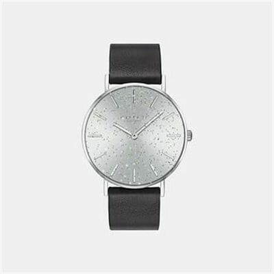 Fashion 4 Coach PERRY BLACK LEATHER STRAP WATCH
