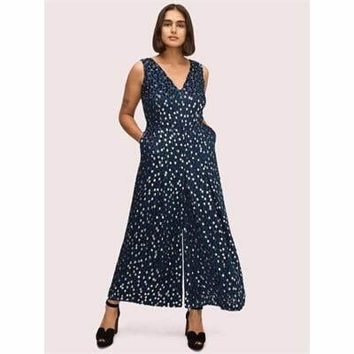 Fashion 4 - scatter dot velvet jumpsuit
