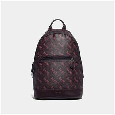 Fashion 4 Coach BARROW BACKPACK WITH HORSE AND CARRIAGE PRINT