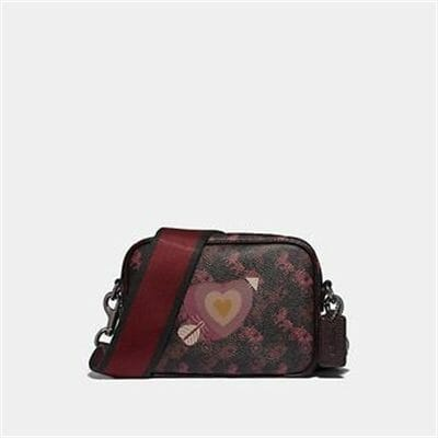Fashion 4 Coach CAMERA BAG 16 WITH HORSE AND CARRIAGE PRINT AND HEART