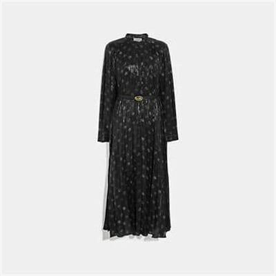 Fashion 4 Coach METALLIC DOT DRESS WITH BELT