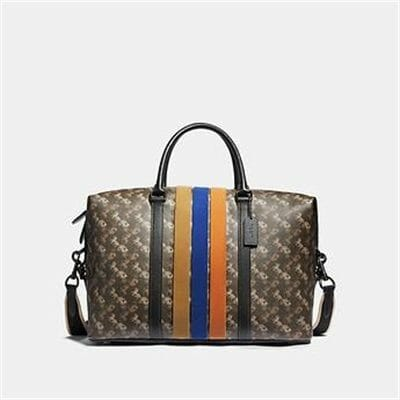 Fashion 4 Coach METROPOLITAN DUFFLE WITH HORSE AND CARRIAGE PRINT AND VARSITY STRIPE