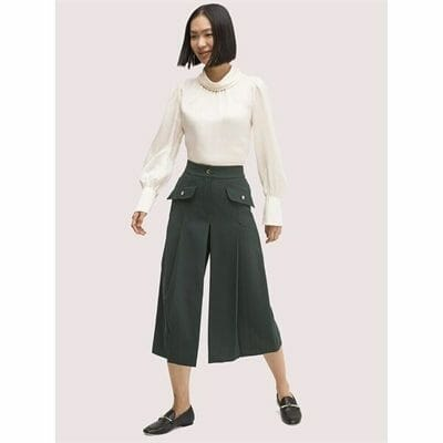 Fashion 4 - pleated culotte pant