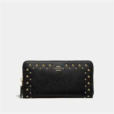 Fashion 4 Coach ACCORDION ZIP WALLET WITH STUDS