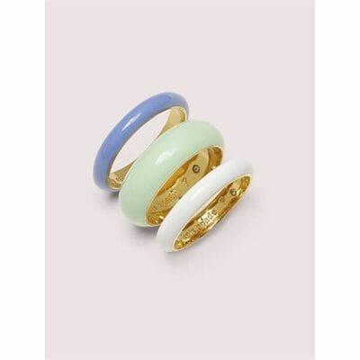 Fashion 4 - candy drops enamel ring set