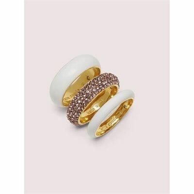 Fashion 4 - candy drops pavé ring set