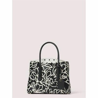 Fashion 4 - margaux embossed scribble flora medium satchel