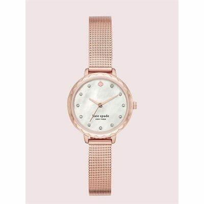 Fashion 4 - morningside mini rose gold-tone stainless steel mesh watch