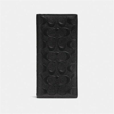 Fashion 4 Coach Breast Pocket Wallet In Signature Leather