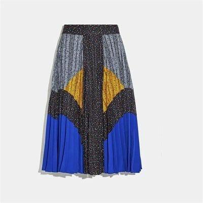 Fashion 4 Coach Mix Pleated Skirt