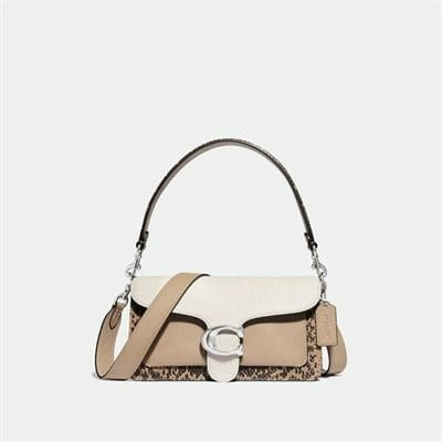 Fashion 4 Coach Tabby Shoulder Bag 26 With Colorblock Snakeskin Detail