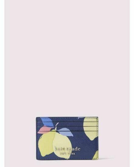 Fashion 4 - cameron lemon zest small slim card holder