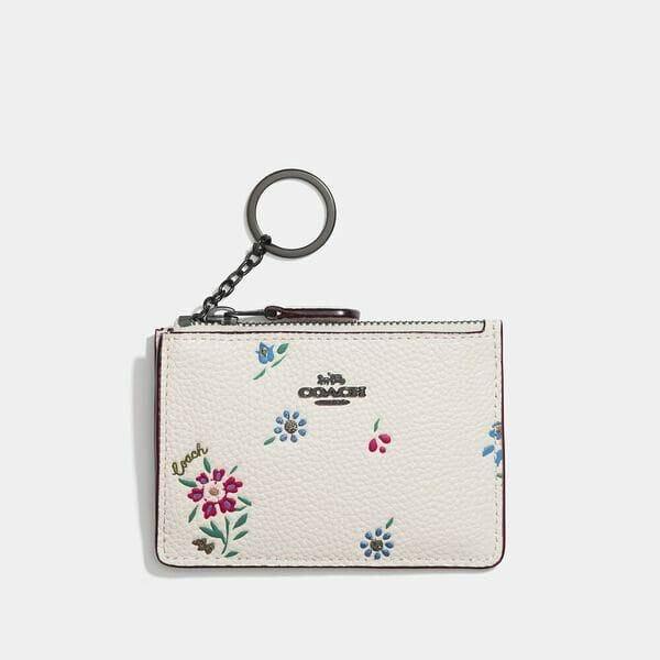 Fashion 4 Coach Mini Skinny Id Case With Wildflower Print