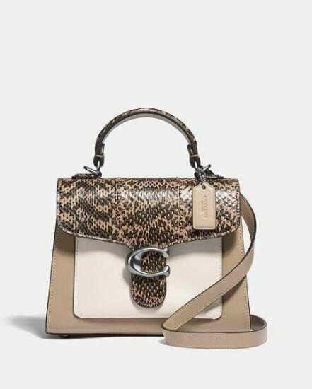 Fashion 4 Coach Tabby Top Handle 20 In Colorblock With Snakeskin Detail