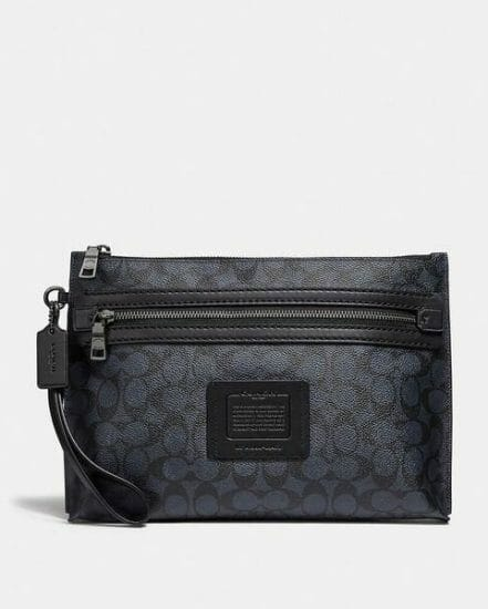 Fashion 4 Coach Academy Pouch In Signature Canvas