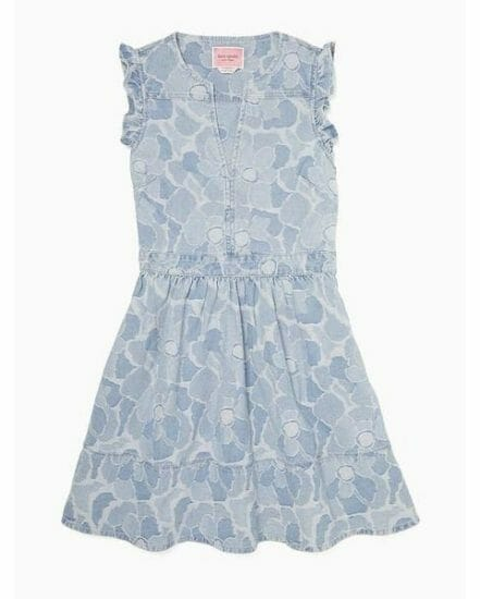 Fashion 4 - abstract peony denim dress