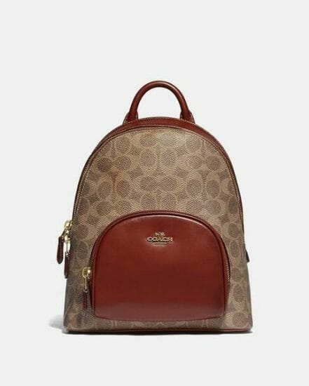 Fashion 4 Coach Carrie Backpack 23 In Signature Canvas