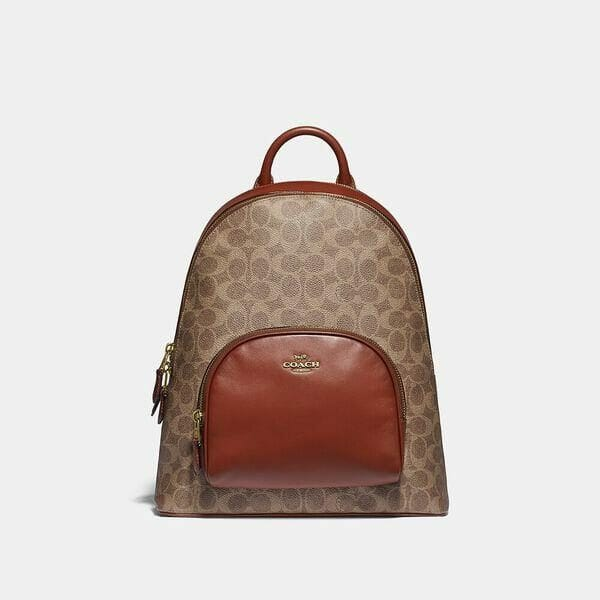 Fashion 4 Coach Carrie Backpack In Signature Canvas