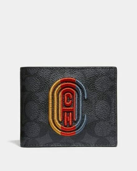 Fashion 4 Coach 3-In-1 Wallet In Signature Canvas With Coach Patch
