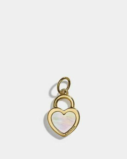 Fashion 4 Coach Collectible Pearl Heart Charm